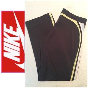 EUC NIKE Workout Pants Size Large Grey/Yellow